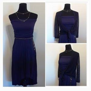 CLASSY Navy Blue HI-LOW Halter Dress 👗